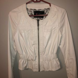 NEW white guess jacket